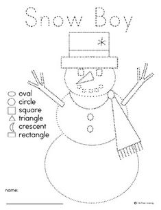 Snow People pre-writing with shapes  - Pinned by @PediaStaff – Please Visit http://ht.ly/63sNt for all our pediatric therapy pins