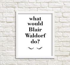 teen girl room decor what would blair waldorf do by grafikshop - Blair Waldorf Schlafzimmer Dekor