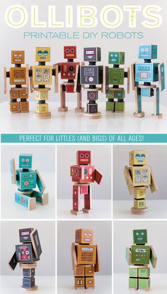 Love these DIY Robots–perfect for presents! The magnets or velcro connectors make it so fun for kids to play and interact with them! (at caravanshoppe.com)