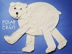 The Playful Polar Bear Craft comes with a free printable that makes this the easiest winter craft for kids! Winter Crafts For Kids, Winter Kids, Art For Kids, Preschool Winter, Bear Crafts, Animal Crafts, Animal Projects, Art Projects, Eric Carle