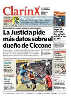 La Justicia pide más datos sobre el dueño de Ciccone. Más información: http://www.clarin.com/edicion-impresa/