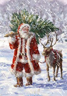 Christmas Art - Santa, tree, reindeer - Marcello Corti - Marcello Corti2.jpg