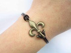 Braceletantique bronze Personality anchor by lightenme