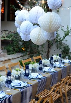 60 Of July Party Decoration Ideas to Celebrate Independence Day Backyard Birthday Parties, Birthday Bbq, Outdoor Birthday, 70th Birthday Parties, Birthday Dinners, Dinner Party Decorations, Table Decorations, Hamptons Party, I Do Bbq