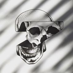 Image result for minimal skull tattoo
