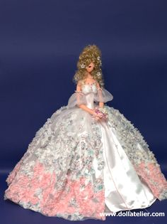 the wedding dressed doll named Cynthia by Dollatelier..  www.dollatelier.com