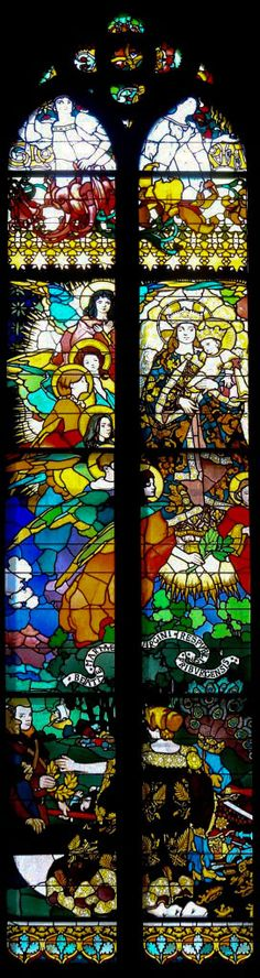 Józef Mehoffer (Polish, 1869-1946), stained glass