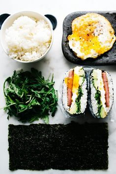 how to make onigizaru or sushi sandwiches - www.iamafoodblog.com    Read More by iamafoodblog