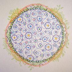 2013 Organic Mandala Letterpress Calendar
