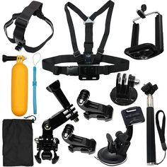 LotFancy Camera Accessories Kit Starter Bundle for GoPro Hero 5 Session 4 3 2 1 SJ4000 SJ5000 HD Action Video Cameras (12 Items) *** Details can be found by clicking on the image. (This is an Amazon Affiliate link and I receive a commission for the sales)