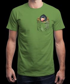 """""""Niffler in your pocket"""" is today's £8/€10/$12 tee for 24 hours only on www.Qwertee.com Pin this for a chance to win a FREE TEE this weekend. Follow us on pinterest.com/qwertee for a second! Thanks:)"""