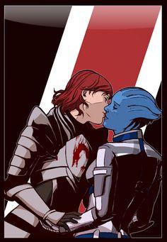 Mass Effect - Liara T'Soni x Shepard - Shiara Dragon Armor, Dragon Age, Mass Effect 1, Star Force, Commander Shepard, Almost Always, Gi Joe, Memes, Game Art