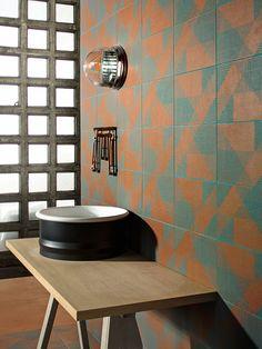 Buy online Tierras industrial frame rust By mutina, porcelain stoneware wall/floor tiles design Patricia Urquiola, tierras Collection Patricia Urquiola, Clay Tiles, Mosaic Tiles, Tiling, Mosaics, Top Interior Designers, Modern Interior, Italian Tiles, Engineered Stone