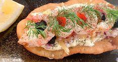 Langosbuffé | Recept från Köket.se Fresh Rolls, Cheddar, Tapas, Food And Drink, Dinner, Ethnic Recipes, Student, Fish, Finger Food