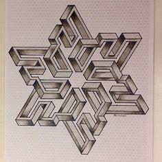 #isometric #star #handmade #hexagon #triangle #penrosetriangle…