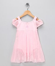 Soph would lood adorable at gymnastics in this!     Take a look at this Pink Leotard Dress - Toddler & Girls by Disney Princess by Capezio on #zulily today!