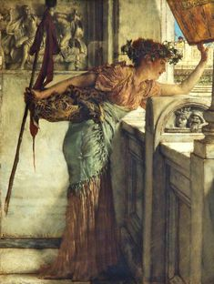 A Bacchante by Lawrence Alma-Tadema  Date painted: c.1875
