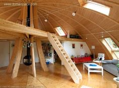 A Dome-Shaped Eco-House - Total Survival Casa Octagonal, Geodesic Dome Homes, Dome House, Unusual Homes, Earth Homes, Round House, Modular Homes, Cabana, Interior Architecture
