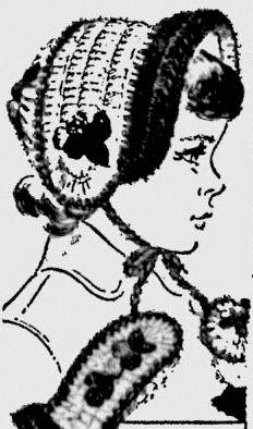 Sketch for 1960s vintage crochet pattern