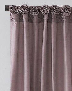 Rosette embellished rouched cartridge pleats