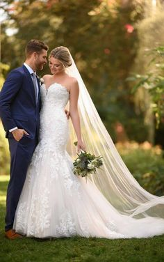 Style #D3044LU Sample available at Ellynne Bridal (Lincoln, Nebraska) for National Bridal Sale: July 17th - July 24th 2021. Visit our website or call to book an appointment: (402)-489-7770 Fit And Flare Wedding Dress, Dream Wedding Dresses, Designer Wedding Dresses, Bridal Dresses, Wedding Gowns, Lace Wedding, Wedding Happy, Mermaid Wedding, Elegant Wedding