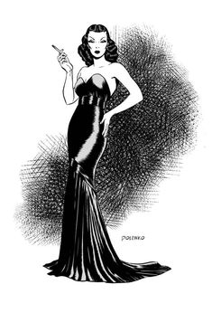 and here's the color version of my Dragon Lady illo. Art © 2012 Nik Poliwko Dragon Lady © 2012 Milton Caniff Estate Dragon Lady in Colour Pinup Art, Pulp Fiction, Female Dragon, Dragon Lady, Milton Caniff, The Pirates, Comics Vintage, Pin Up Illustration, Bd Comics