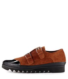 Treads Monk Shoes Cognac/Black #AW1415