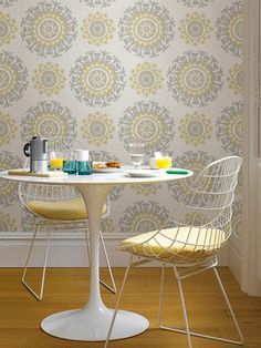 Suzani Peel and Stick Wallpaper by Brewster at Gilt