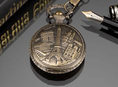 Pacifistor Antique Watch Paris Tower Bronze Necklace Chain #PACIFISTOR