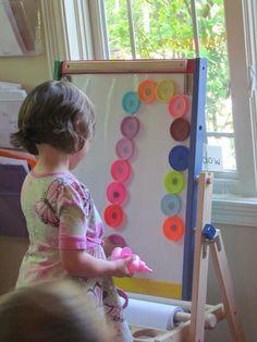 Magnetic Play Dough Lids