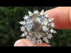 White Tourmaline & Diamond Ring - http://videos.silverjewelry.be/rings/white-tourmaline-diamond-ring/