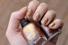 metallic polka dot nails