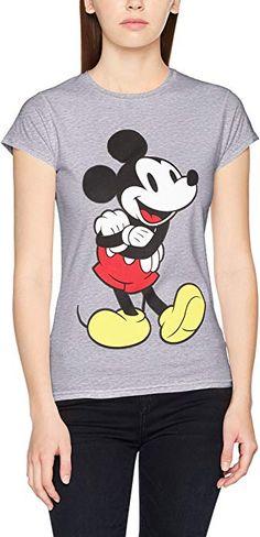 cd66510ce1 Disney Damen T-Shirt Micky Mouse Classic Mickey, Grau (Grey 003),