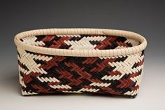 Diagonally Plaited Oval Basket - Learn from Dianne Stanton at the 2013 Stowe Basketry Festival!