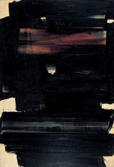"""""""Composição"""" (1959) de Pierre Soulages"""