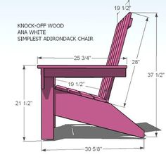 adirondack chair plans - i'm going to make one!