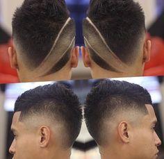 Мужские прически с полосками - http://popricheskam.ru/62-muzhskie-pricheski-s-poloskami.html. #прически #стрижки #тренды2017 #мода #волосы