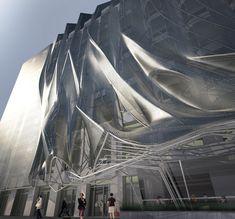 Digital modeling helped shape the facade of a 10 story media office project in los angeles by Oyler Wu