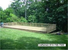 Deck over a steep slope