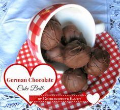 German Chocolate Cake Balls by CookingwithK.net