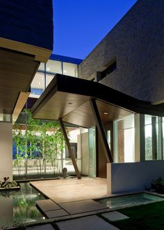 - architecture beast with modern house entrance design. Modern Entrance, Entrance Design, House Entrance, Modern Entry, Arch House, Entrance Ideas, Design Entrée, Modern Design, House Design