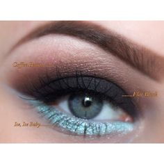 New Mineral Eyeshadow Trio Get This Look All Natural Vegan Eyeshadow... (25 CAD) ❤ liked on Polyvore featuring beauty products, makeup, eye makeup, eyeshadow, bath & beauty, grey, gel eyeshadow, hypoallergenic eye makeup, mineral eye makeup and blending brush