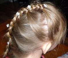 Claire's Hair: Line Hair (Basic braid with a French Additive)