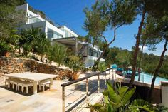 Ibiza  www.ibizaknowhow.com  Offering the services of a 5 star Hotel within the privacy of a Private Villa. Built on its own mountain with no near neighbors. There are 9 personal staff to cater to your every desire. The chefs can prepare a selection of local organic ingredients and local sea-food, and 5 Butlers offering 24 hour service.