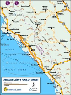 25 Best Maps of Mazatlan Sinaloa Mexico images