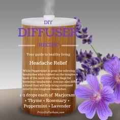 DIY essential oil diffuser recipe for headache relief