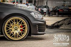 matt black vehicles | VW Golf 7 GTD - Matt Black Dragonball