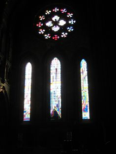 Stained glass windows by Eduardo Paolozzi, St. Mary's Cathedral, Edinburgh