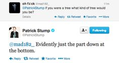 He complains about stump jokes but he's the one that makes them.