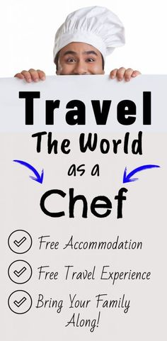 Work and travel the world as a chef. One of the most in-demand travel jobs is also one of the best ways to fill your wanderlust and do what you love at the same time! See how to get started! Travel ca Travel Careers, Travel Jobs, Travel Money, Work Travel, Budget Travel, Free Travel, Cheap Travel, Travel Hack, Chef Jobs
